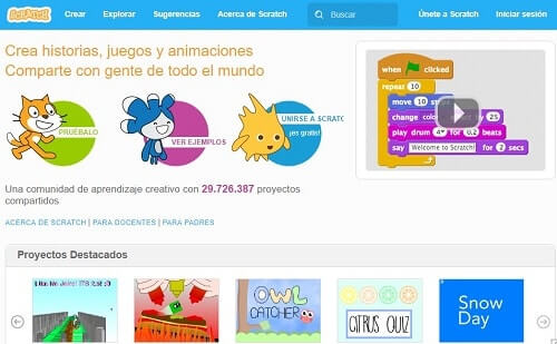 Scratch lenguaje de codigos para niños y adolecentes