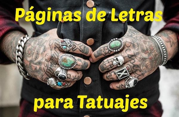 10 Mejores Páginas De Letras Para Tatuajes Originales