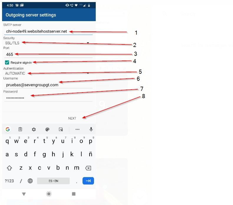 Paso 6 - usa tu email y contraseña