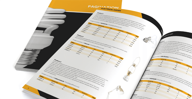 InDesign Free Catalog Template Pagination Com