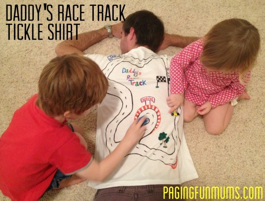 Daddy's Race Track Tickle Shirt