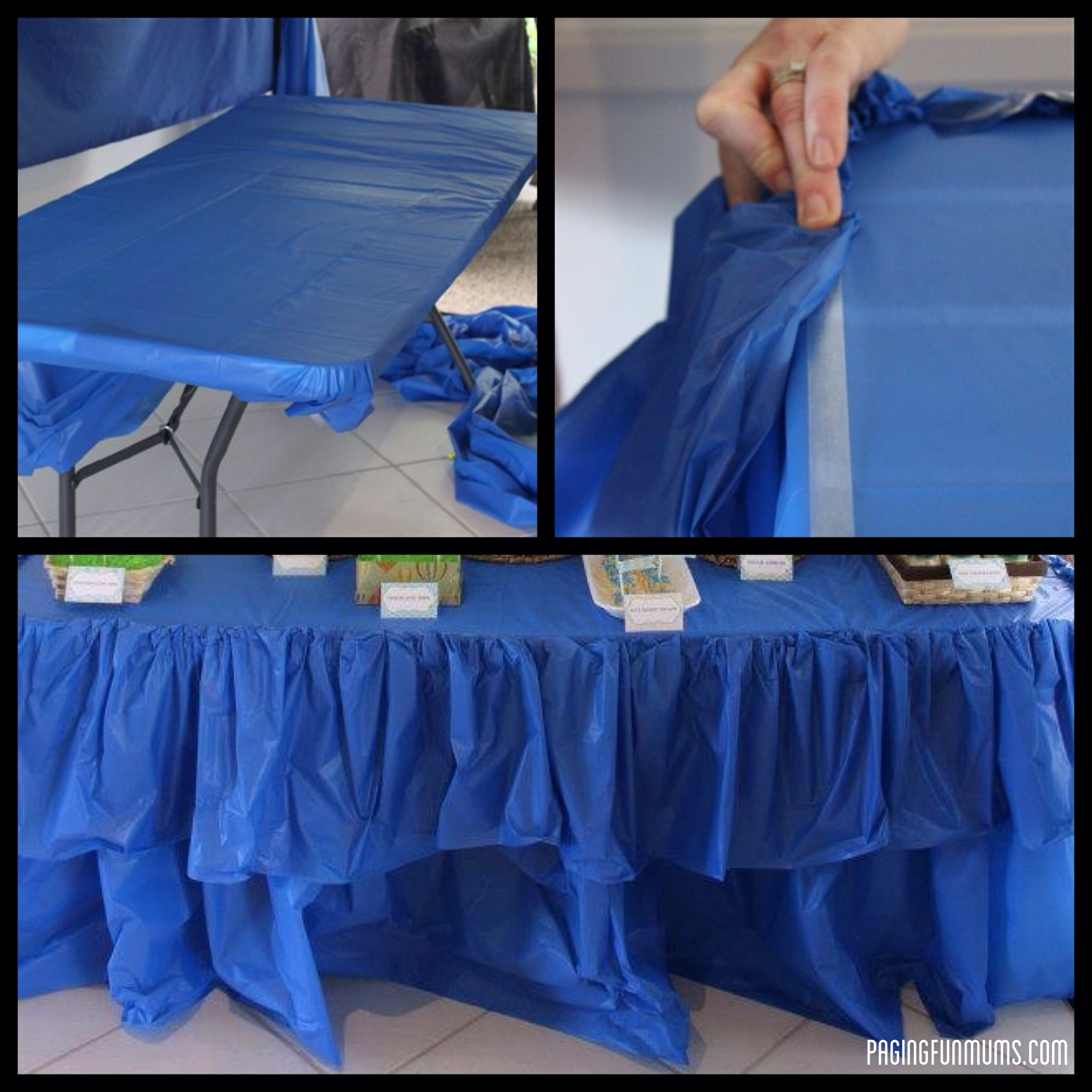 how to make chair covers for a party swivel homesense cheap and easy table ruffle paging fun mums