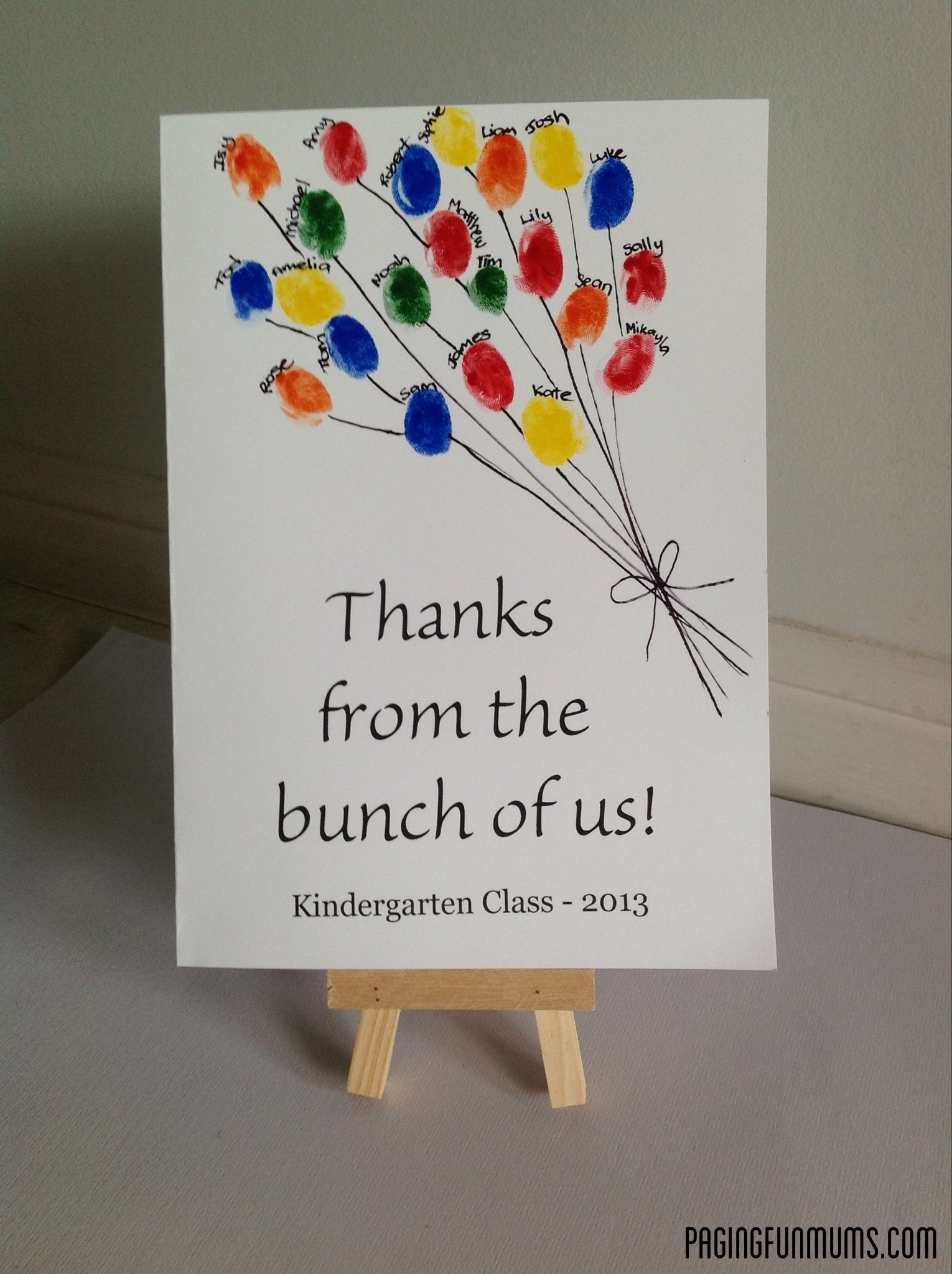 Teacher Appreciation Card From Class Louise Paging Fun Mums