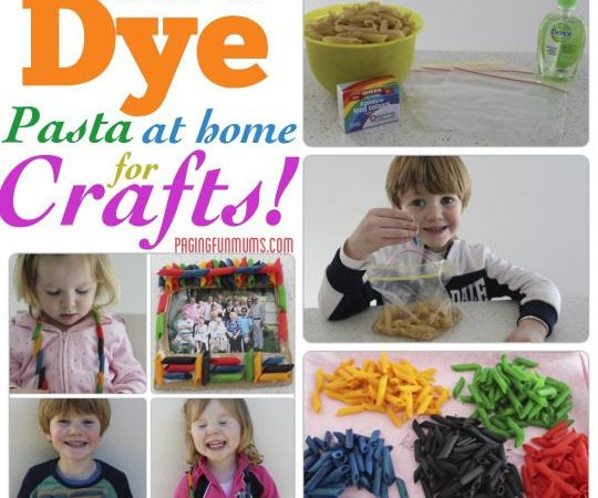 How to dye Pasta at home for Crafts!