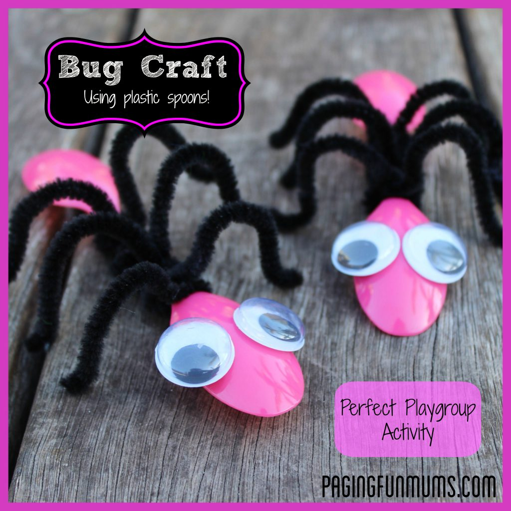Learn to make pasta crafts and other fun activities in this article. Cute Bug Craft Using Spoons And Pipe Cleaners