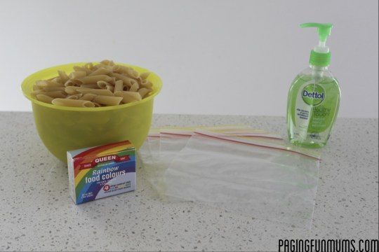 How to dye pasta at home for crafts