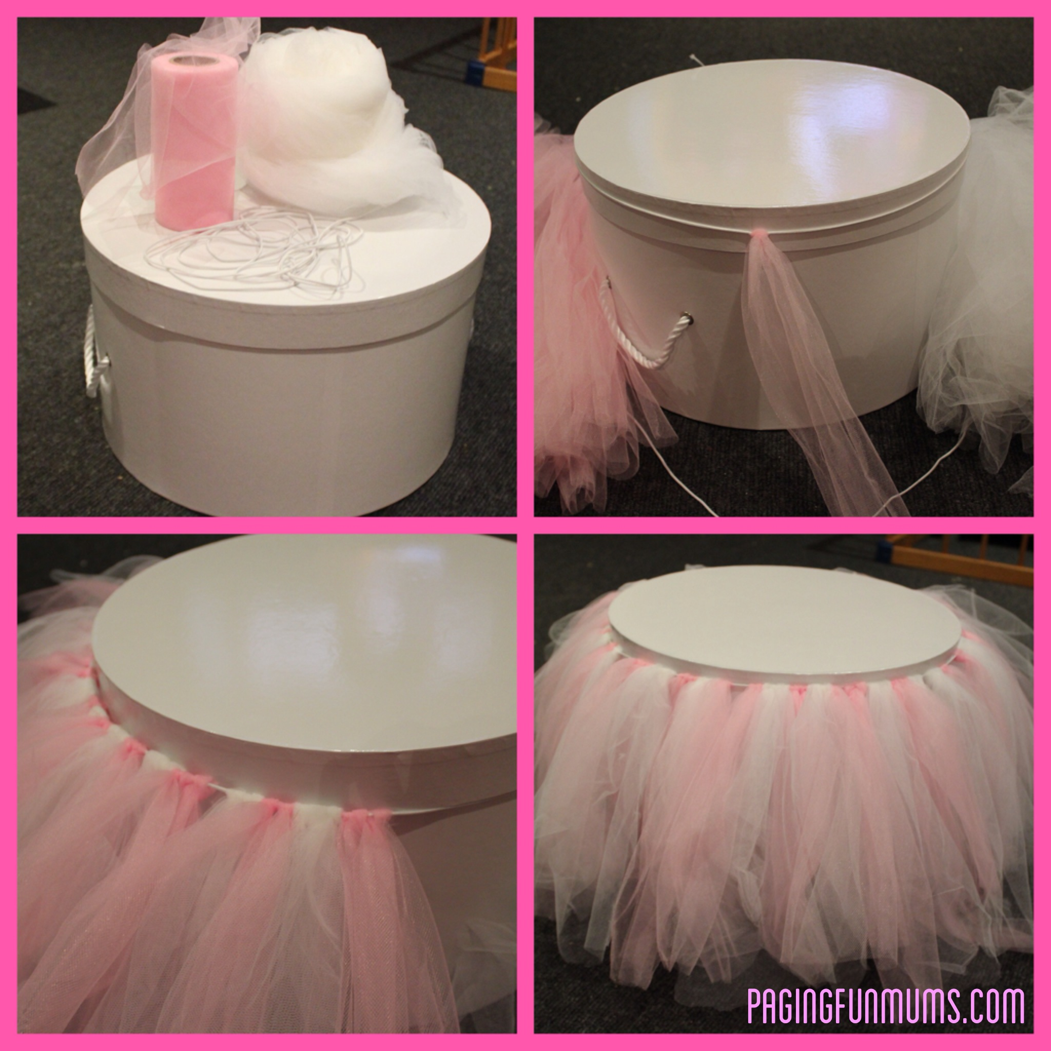 How To Make A Tutu Cake Stand