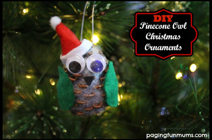 DIY Pinecone Owl – Christmas Ornament