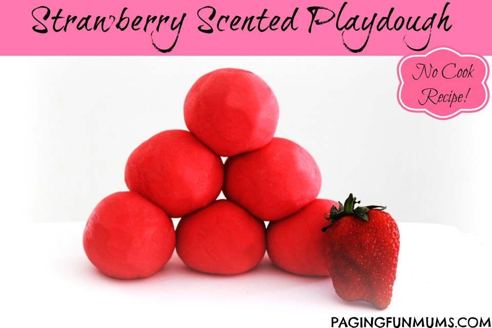 Strawberry Scented Playdough