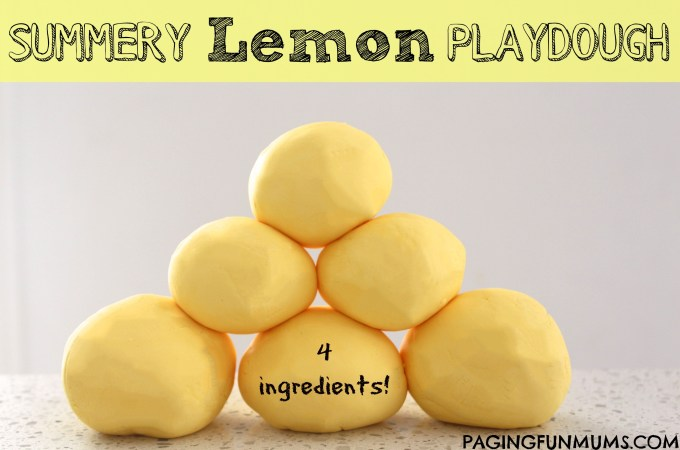 Summery Lemon Playdough
