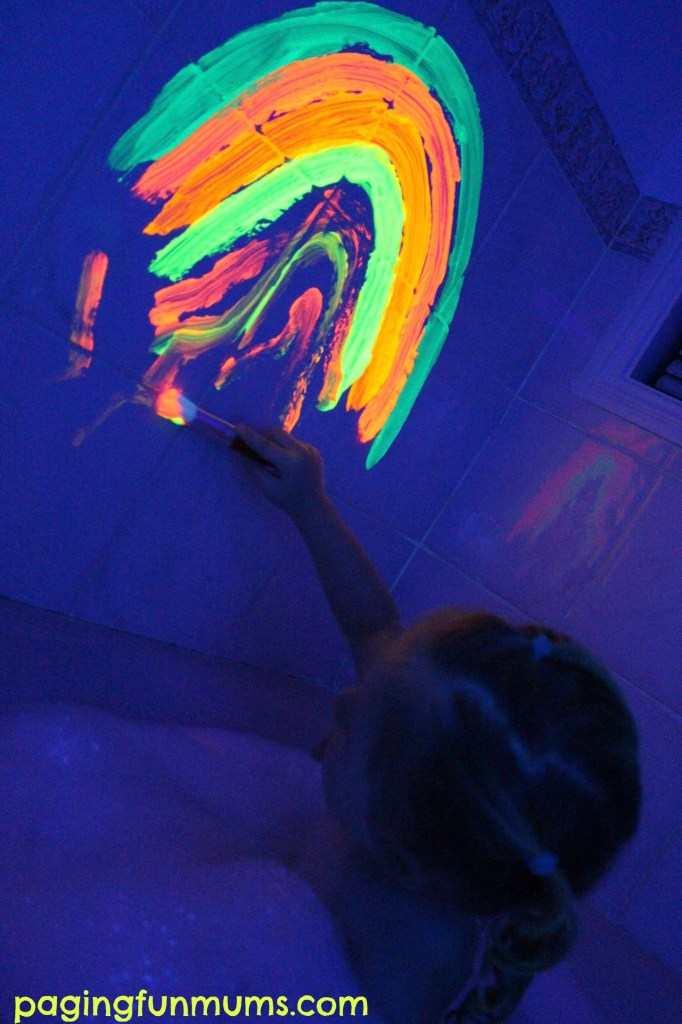 Glowing Bath Paint