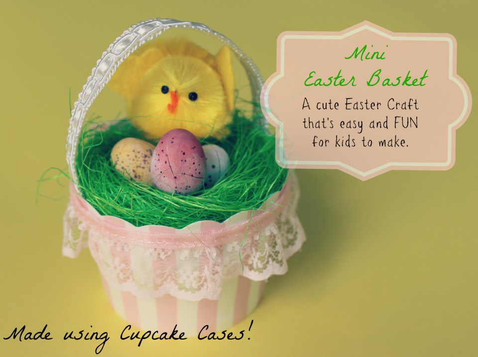 Eater Basket Craft - perfect playgroup or classroom craft - using cupcake cases!