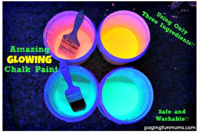 Glowing Chalk Paint – perfect for a glow party