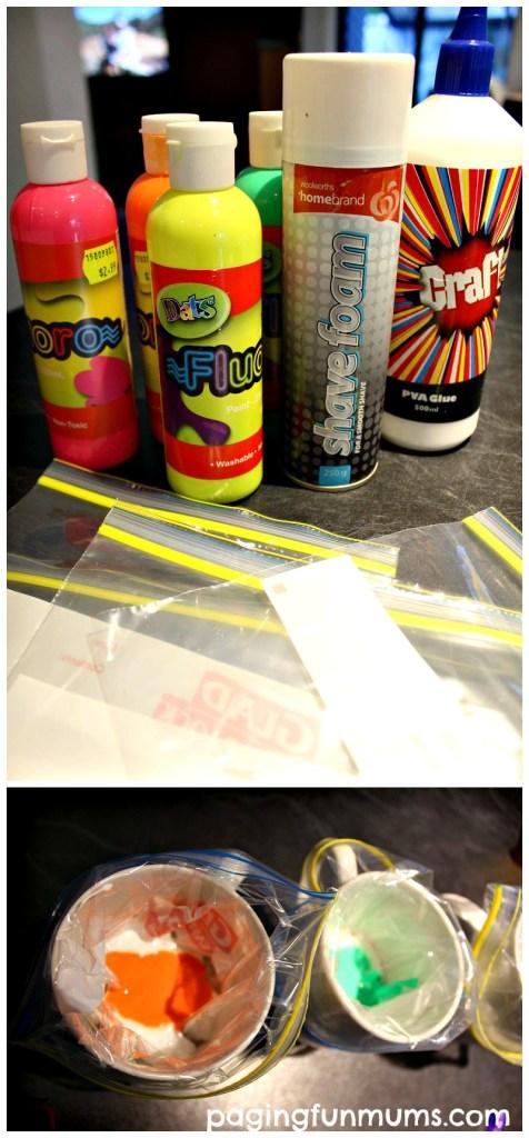 Glowing Foam  Paint Recipe