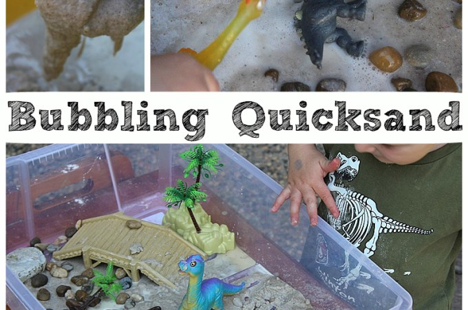 Bubbling Quicksand – Sensory Play