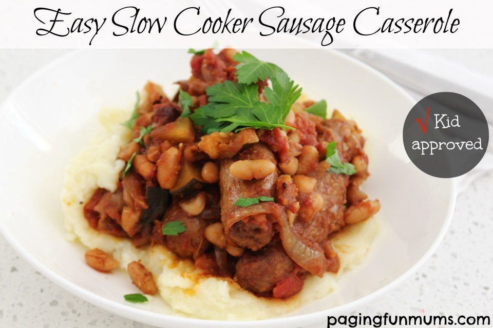 Easy Slow Cooker Sausage Casserole