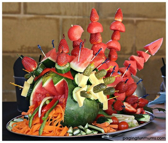 Fire Breathing Dragon Fruit Display