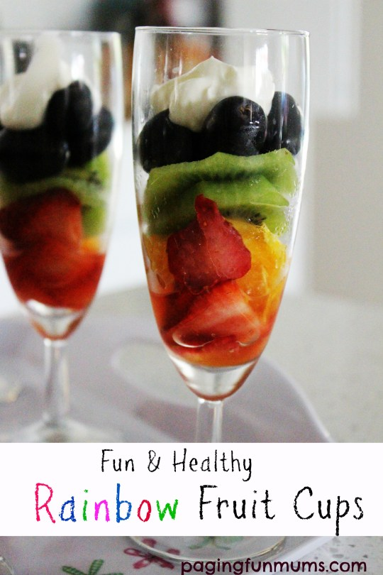 Fun and healthy Rainbow Fruit Cups