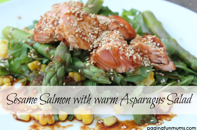 Sesame Salmon with warm Asparagus Salad
