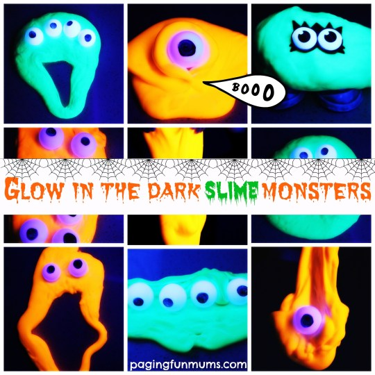 Glow in the Dark Slime Monsters