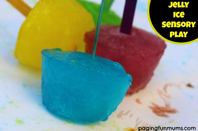 Jelly Ice Paint…awesome sensory play activity