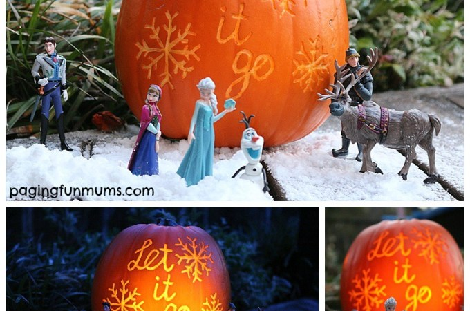 Frozen Halloween Pumpkin