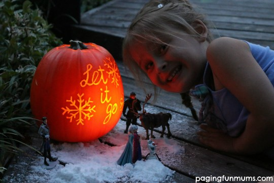 Frozen Halloween Pumpkin Idea and play scene!
