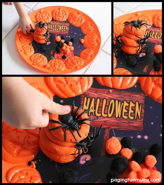 Halloween themed play dough activity! Just use a bunch of cool Halloween props!