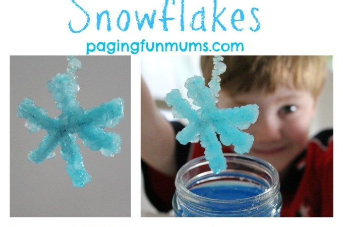 Grow your own Frozen themed Snowflakes