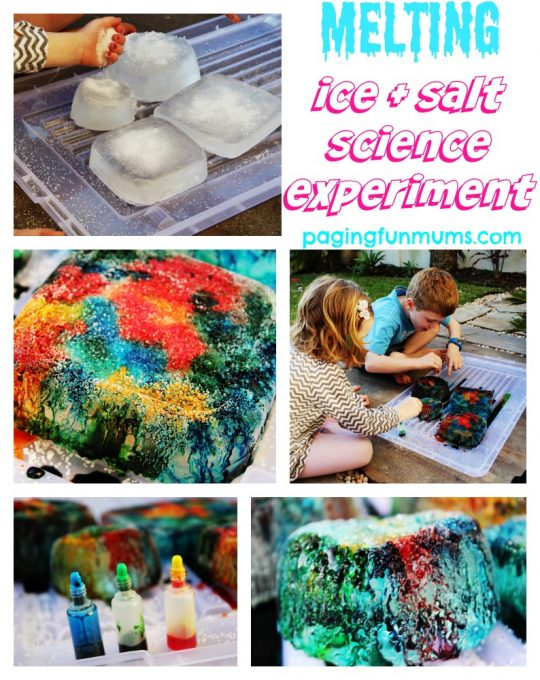 Melting Ice & Salt Science Experiment