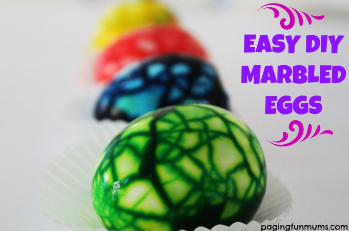 Easy DIY Marbled Eggs – includes video tutorial