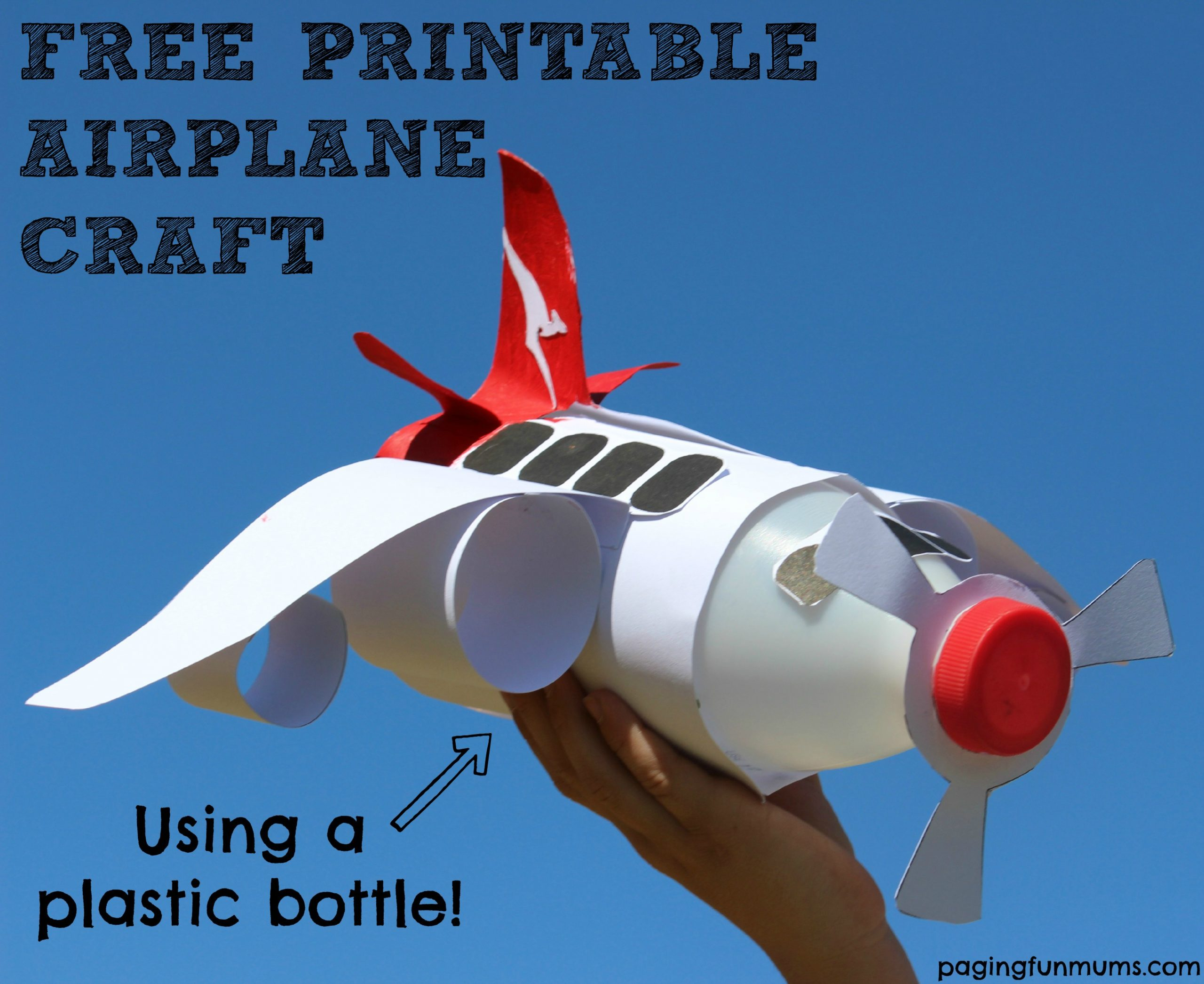 Free Printable Airplane Craft Using A Plastic Bottle