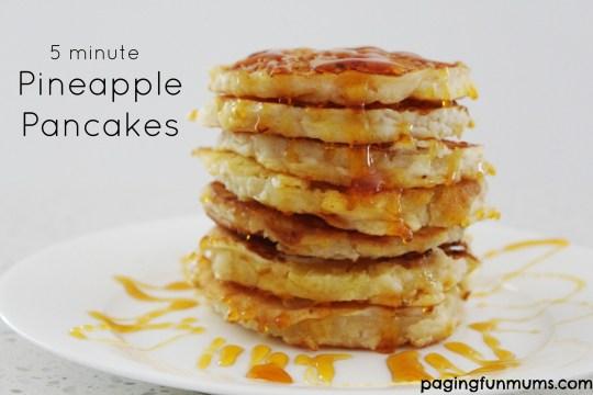 5 minute pineapple pancakes