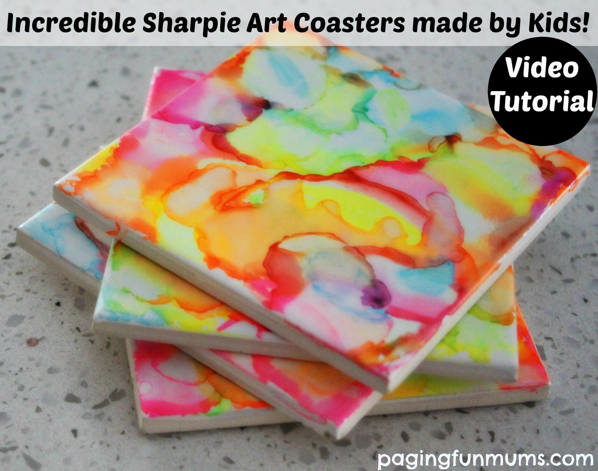 Incredible sharpie art coasters
