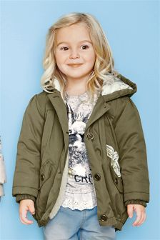 Next Khaki Jacket - my daughter would ROCK this look!