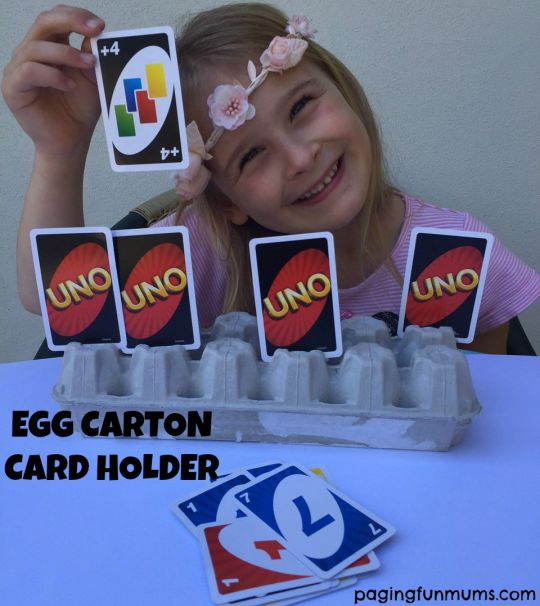 Egg Carton Card Holder - perfect for UNO!