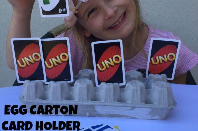Egg Carton Card Holder for Kids!