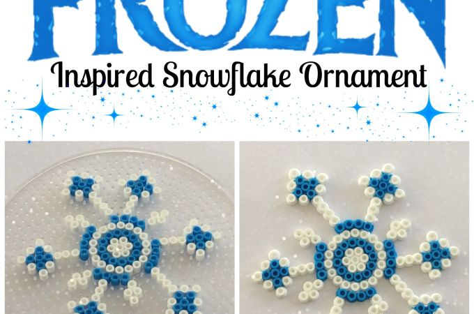Frozen Inspired Snowflake Ornament