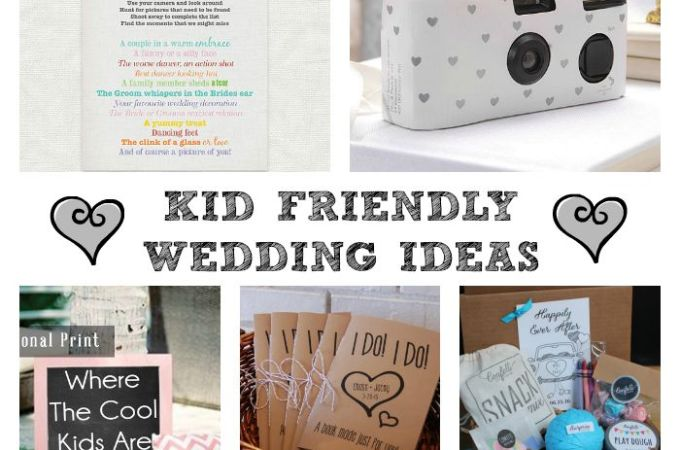 Kid Friendly Wedding Ideas – fun printables and activities!