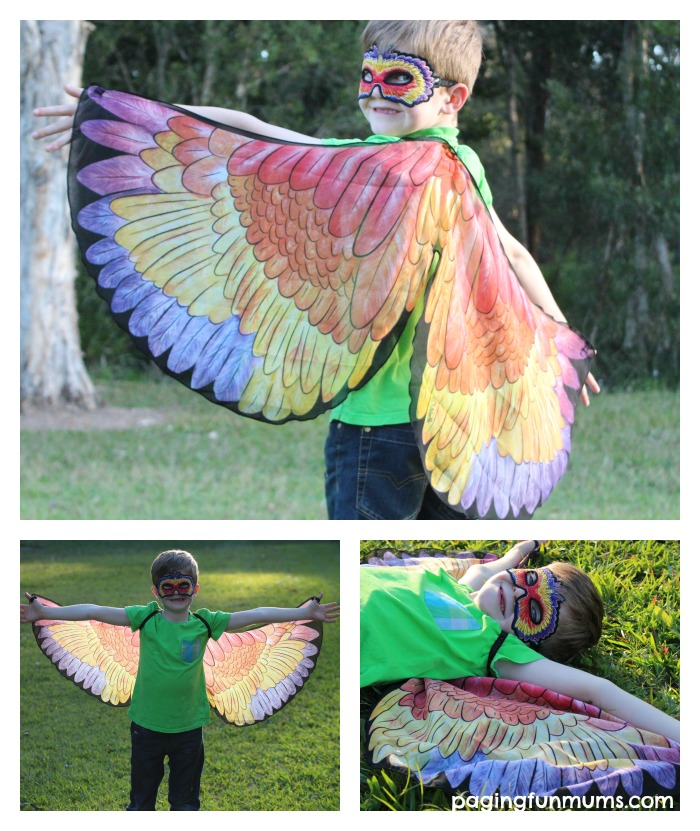 Parrot Wings for the dress up box! Wouldn't these be great in kindergartens - a whole flock of colourful birds!
