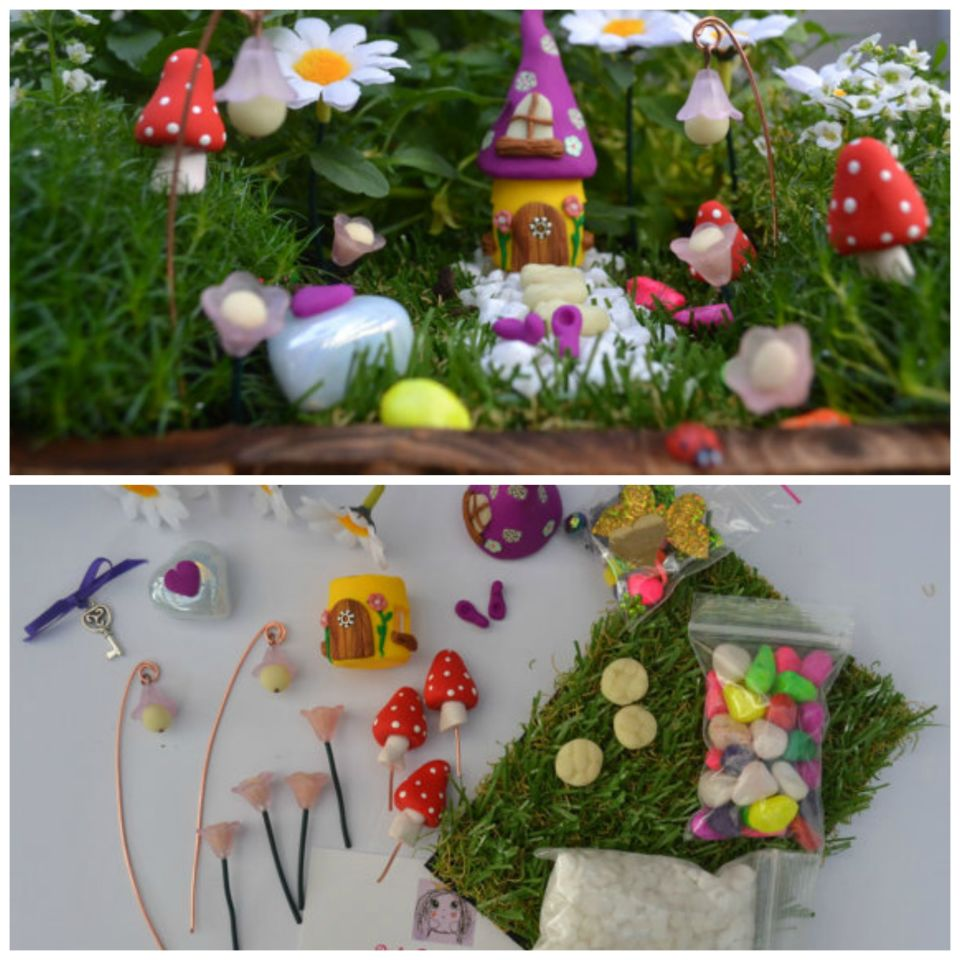 Simple Fairy Garden set! Handmade!
