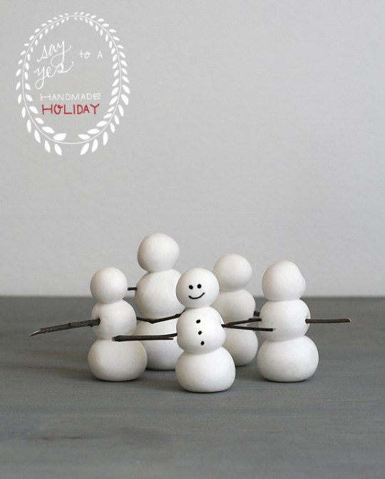 Clay Snowman Ornaments