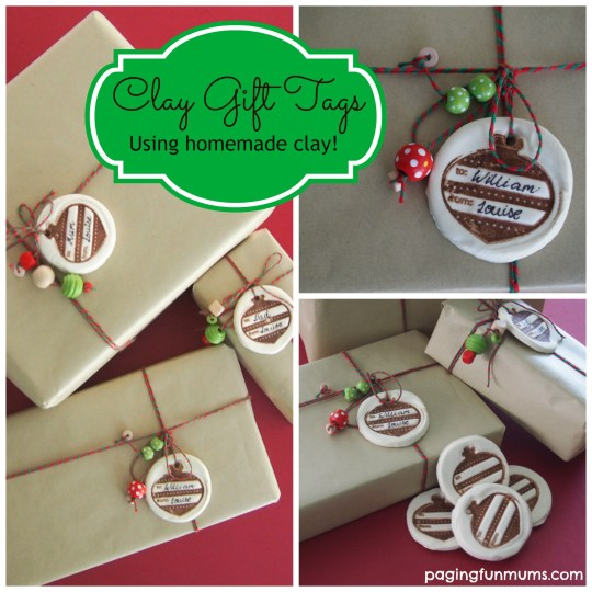 Clay Gift Tags - such a beautiful wrapping idea!