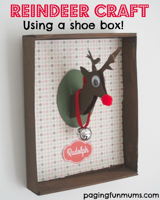 Transform a show box into this cute Reindeer!