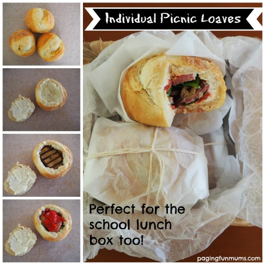Individual Picnic Loaves + 25 other great Picnic Recipes!