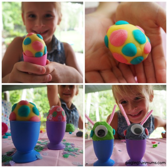 Easter Play Dough Egg Cups