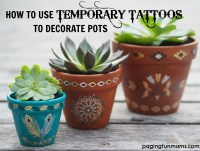 Using Temporary Tattoos to Decorate Terracotta Pots ...