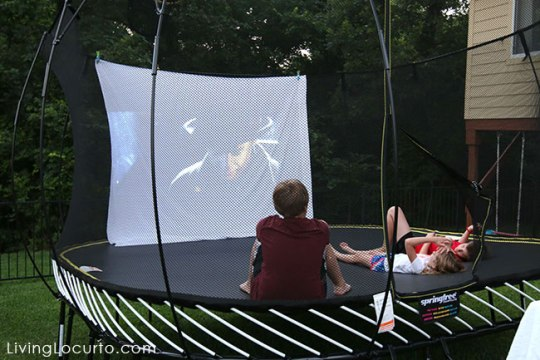 Trampoline Movie Night