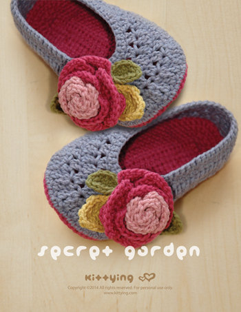 Crochet Pattern for adult sized slippers! Beautiful Mother's Day gift!