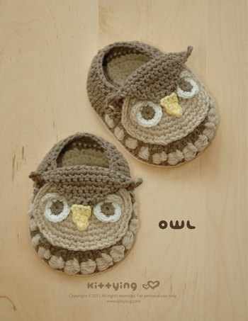 Owl Slipper Crochet Pattern